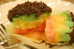 Italian Rainbow Cupcakes
