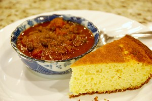 Azuki Bean Chili with Homemade Cornbread