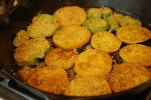 Fried Heirloom Tomatoes