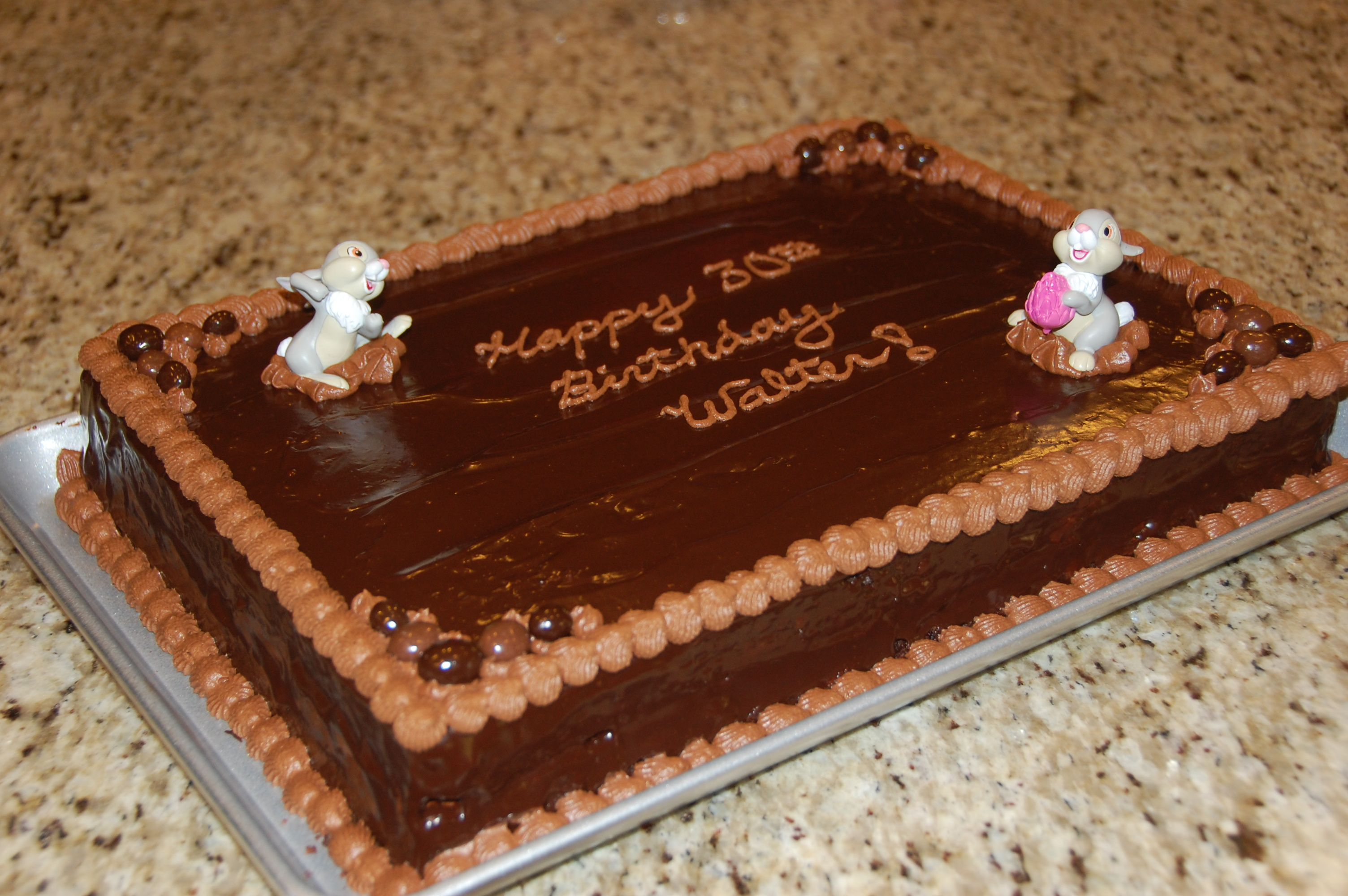 Birthday Cake Photos Chocolate Ganache : Dark Chocolate Ganache Cake (and birthday sheet cake ...