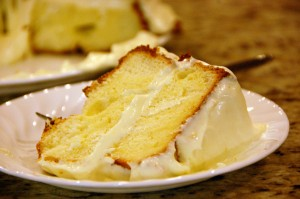 Lemon Cream Chiffon Cake