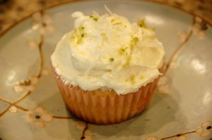 Kaffir Lime & Lemongrass Leaf Cupcakes with Coconut Frosting