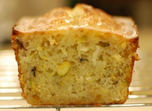 Yellow Squash & Pistachio Lemon Cake