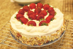 Strawberry Whipped Cream Cake, A.K.A. the Chinese or Japanese Birthday Cake
