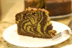 Chocolate Matcha Zebra Cake