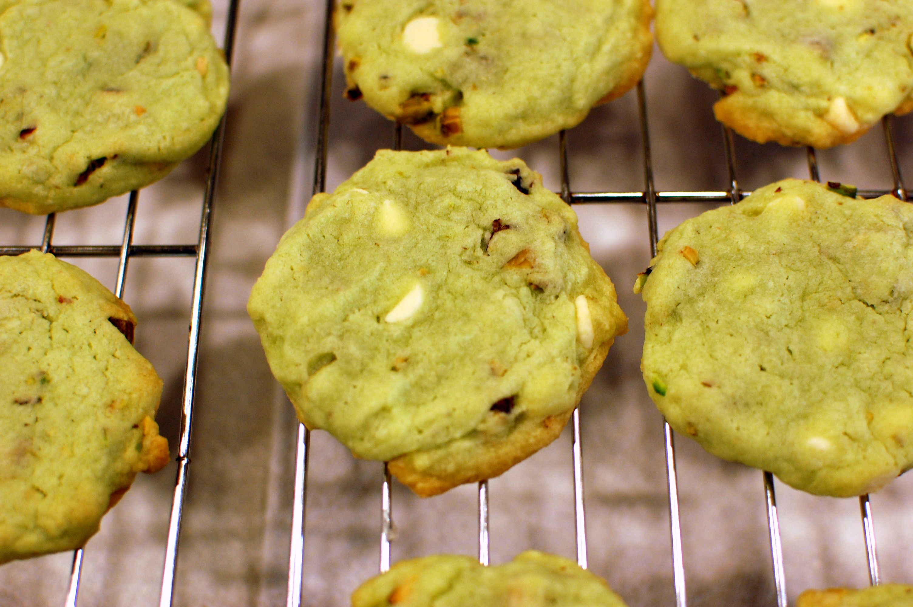 Pistachio & White Chocolate Chip Cookies — The 350 Degree Oven
