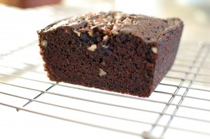 Chocolate Pecan Mystery Loaf Cake