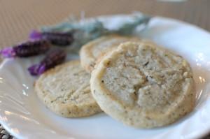 Lavender Flower Shortbread Cookies