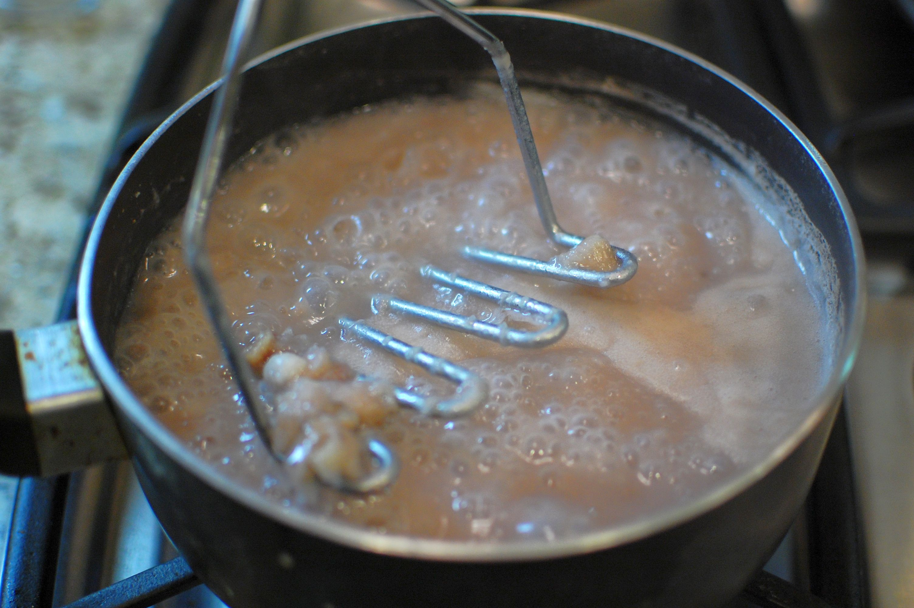 the tapioca, and stir. Simmer for another 15 minutes until the tapioca ...