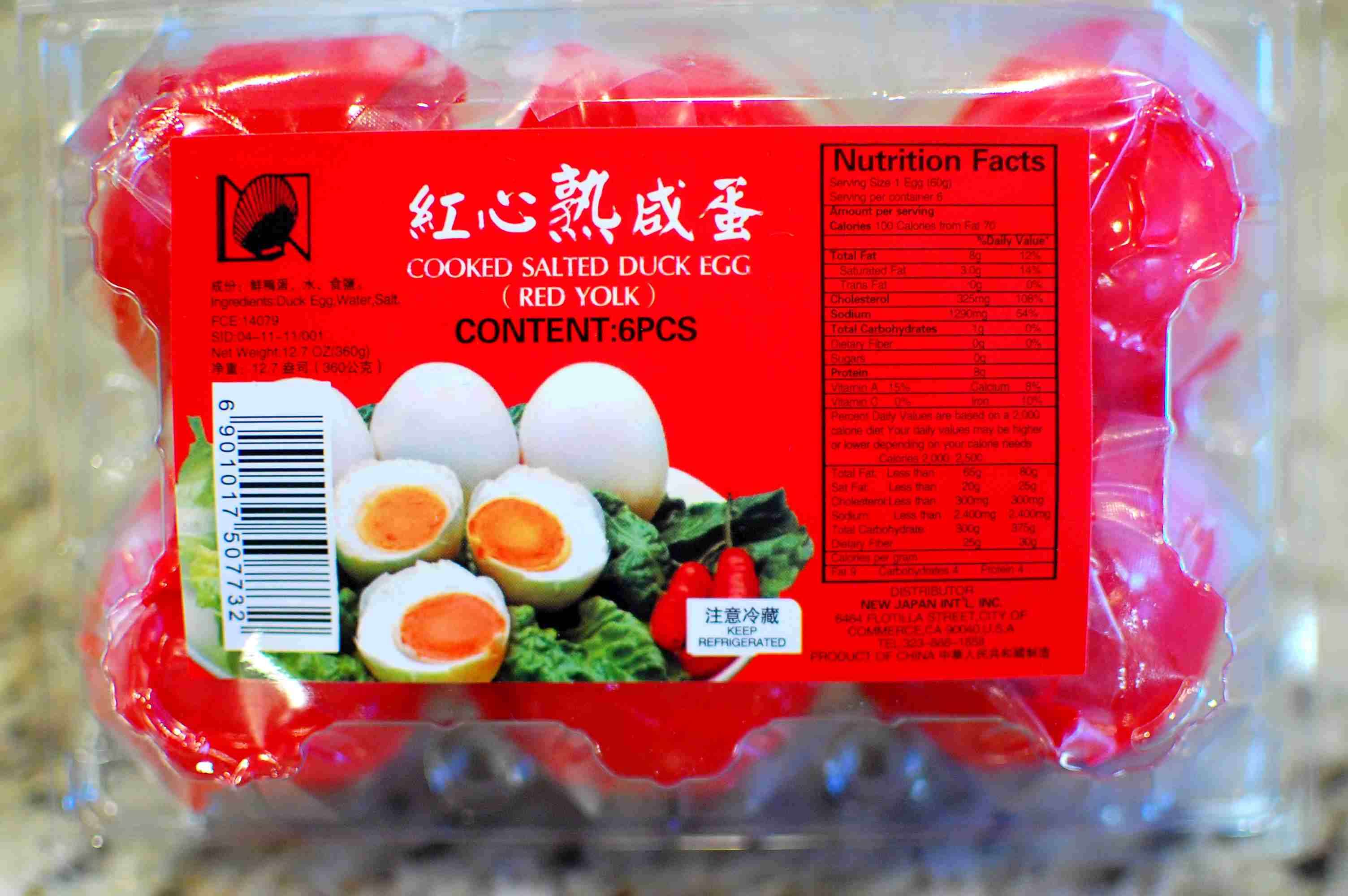 Asian salted eggs