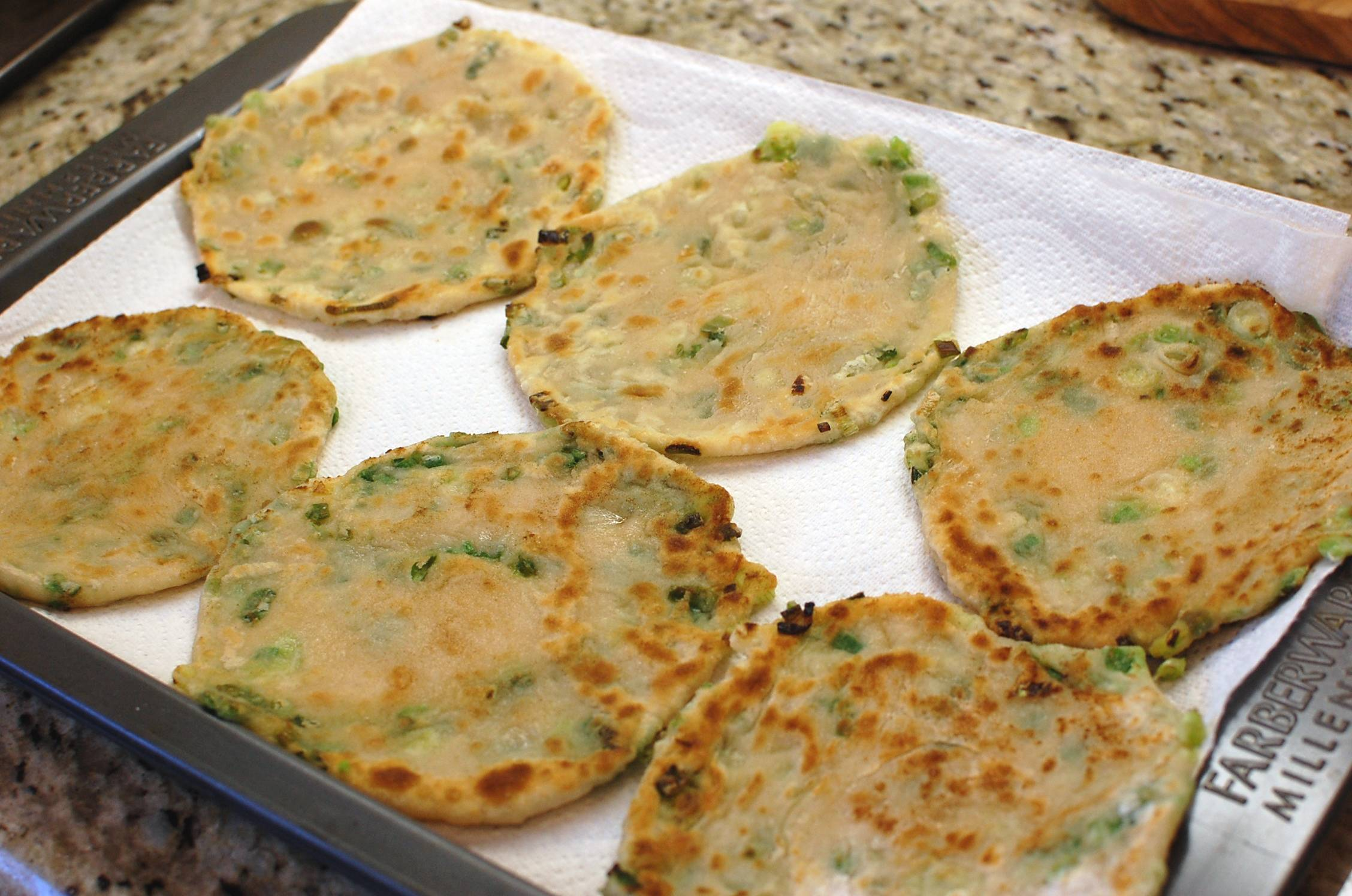 Green Onion Pancake (Chinese Fried Scallion Pancakes a.k.a. Cong You ...