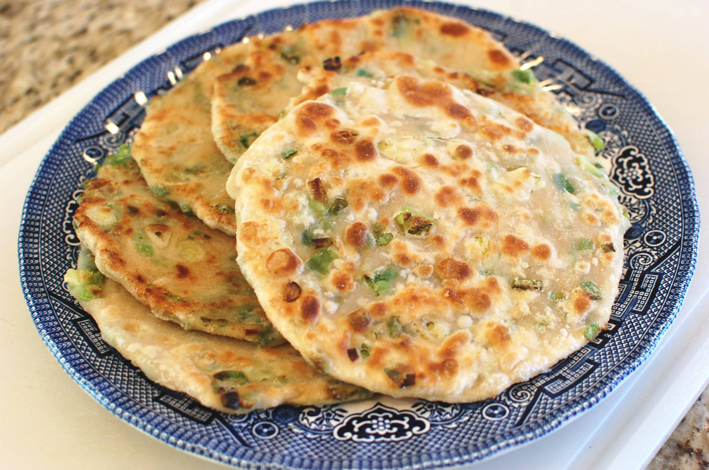 Green Onion Pancake (Chinese Fried Scallion Pancakes a.k.a. Cong You ...
