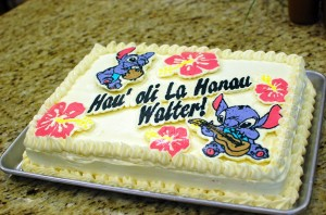 Red Velvet Sheet Cake with Cream Cheese Frosting (Lilo and Stitch Hawaiian Birthday Cake)