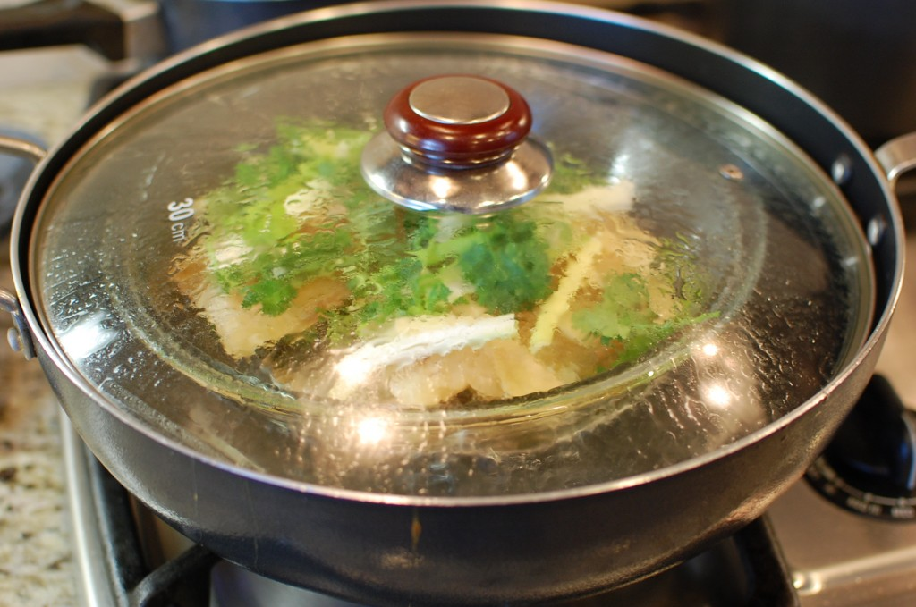 asian style steamed fish with ginger and scallions the