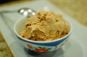 Homemade Kona Coffee Ice Cream
