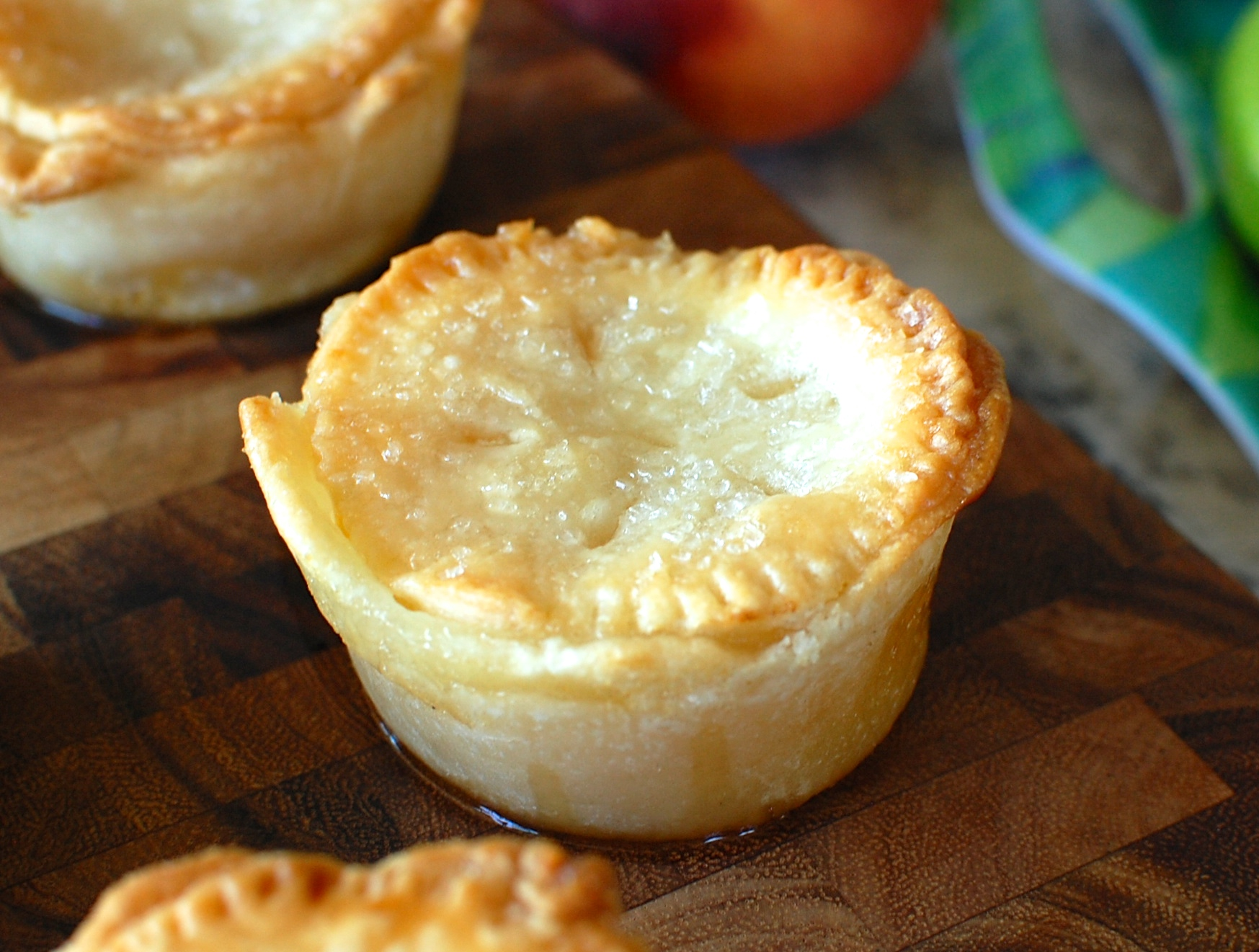 Individual Mini Peach Pies — The 350 Degree Oven