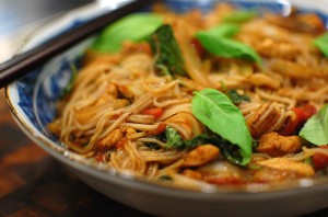 Spicy Thai Drunken Rice Noodles