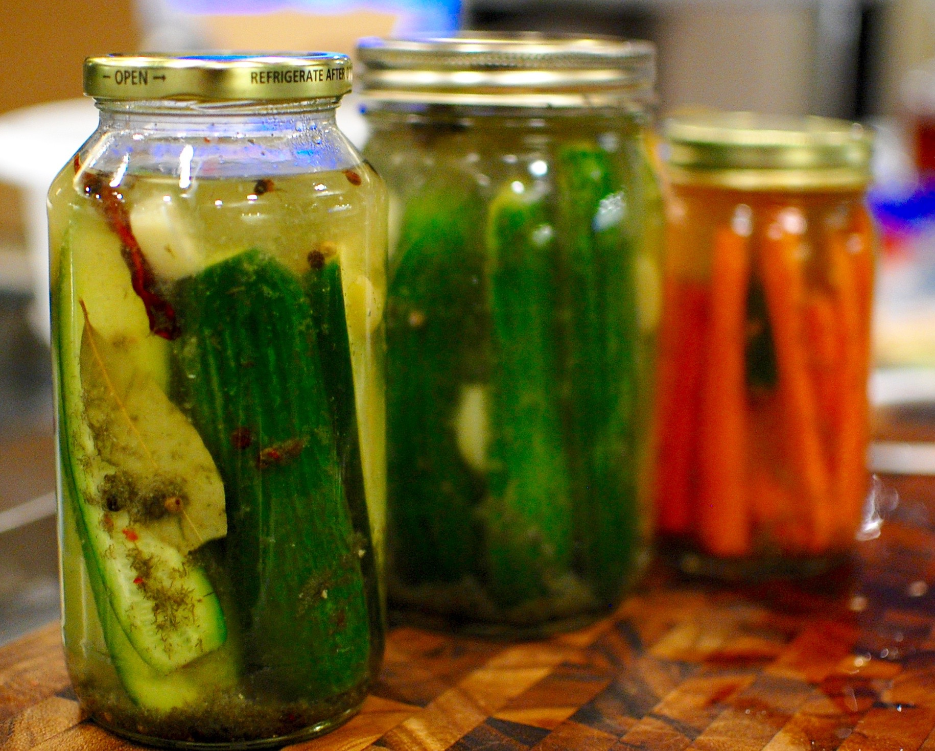 Homemade Refrigerator Pickles: Spicy Dill & Garlic Cucumber — The ...