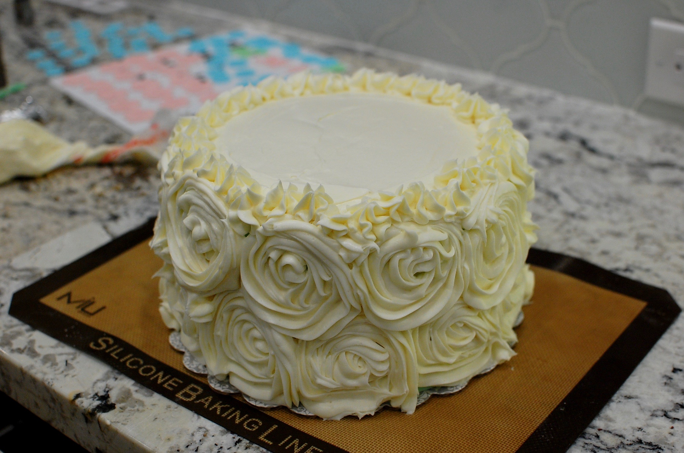 Ombr Blue Or Pink Baby Shower Gender Reveal Cake The