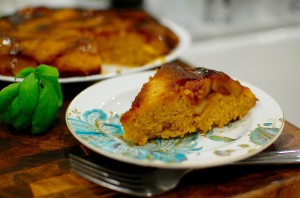 Caramelized Apple & Pumpkin Upside Down Cake