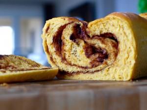 Pumpkin Cinnamon Swirl Yeast Bread