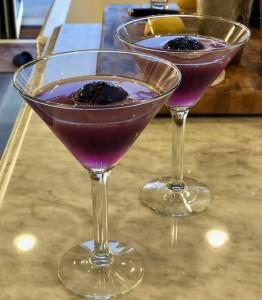 "Butterfly Pea Flower Martini, A.K.A. the ""Hope Diamond"" Martini"